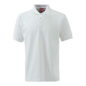 An image of ISCP Logo XSS1 Unisex Plain White Polo Shirt XS (ISCP027XS)