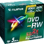 An image of FUJI DVD-RW 4.7GB 5 PACK