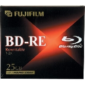 An image of BLU RAY DISC  BD-RE JEWEL CASE (25GB 1-4X) 5 PACK