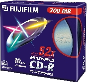 An image of FUJI CD-R 700MB SLIMBOX X10