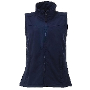 An image of Ladies Soft Shell  Navy Bodywarmer (ISCP018S)