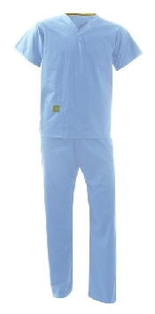 An image of Scrub Suit - Light Blue size XSmall