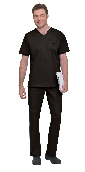 An image of Men's Stretch V-Neck Top Black S