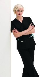 An image of Double Pocket Crossover Top Black XS