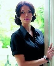 An image of Paduli Ladies Short Sleeve Blouse Black (ISCP210B10)