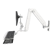 An image of Elite Paralink Monitor & Keyboard Wall Mount Ultra Medical White