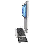 An image of EMVT21 Low Profile Sit / Stand Computer Workstation Low Profile Ultra Medical White