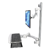 An image of Ultra 500i Monitor & Keyboard Wall Track Mount Compact Long Reach Ultra Medical White