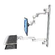An image of Ultra 500i Monitor & Keyboard Wall Track Mount Long Reach Ultra Medical White