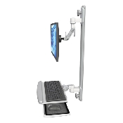 An image of Ultra 500i Monitor & Keyboard Wall Track Mount Compact Composite Medical White