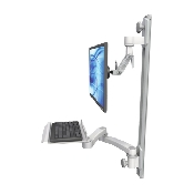 An image of Ultra 500i Monitor & Keyboard Wall Track Mount Compact Long Reach Mini Medical White