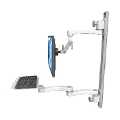 An image of Ultra 500i Monitor & Keyboard Wall Track Mount Extended Long Reach Mini Medical White