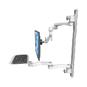 An image of Ultra 500i Monitor & Keyboard Wall Track Mount Long Reach Mini Medical White