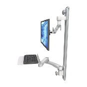 An image of Ultra 500i Monitor & Keyboard Wall Track Mount Compact Long Reach Mini Flat Medical White