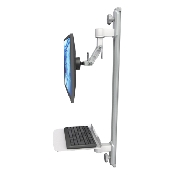 An image of Ultra 500i Monitor & Keyboard Wall Track Mount Compact Mini Flat Medical White