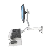 An image of Ultra 510 Keyboard & Monitor Wall Mount Extended Ultra Medical White