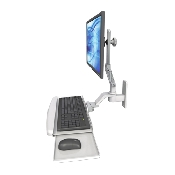 An image of Ultra 510 Keyboard & Monitor Wall Mount Compact Ultra Medical White