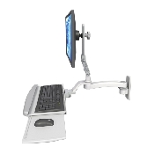 An image of Ultra 510 Keyboard & Monitor Wall Mount Extended Composite Medical White