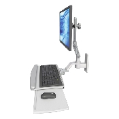 An image of Ultra 510 Keyboard & Monitor Wall Mount Compact Composite Medical White