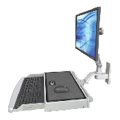 An image of Ultra 510 Keyboard & Monitor Wall Mount Compact Worksurface Medical White