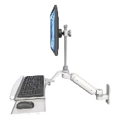 An image of Ultra 180 Keyboard & Monitor Wall Mount Compact Ultra Medical White