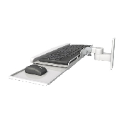 An image of Ultra Series Keyboard Wall Mount Compact Medical White
