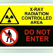 An image of S/A A4 'X-Ray Radiation Controlled Area - DO NOT ENTER'