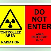 An image of Laminated A4 'X-Ray Radiation Controlled Area - DO NOT ENTER'