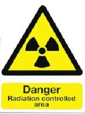 An image of S/A A4 'DANGER - Radiation Controlled Area' Warning Sign