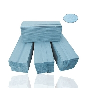 An image of Handtowels 1Ply - V Fold Blue (3600pcs)