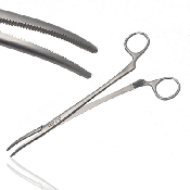 An image of Instramed Sterile Artery Roberts Forceps Curved 22.5cm