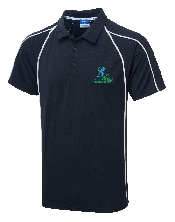 An image of G-Force Unisex Poloshirt Navy ISCP Logo (ISCP203S)
