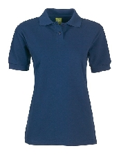 An image of PS819 Ladies Fit Poloshirt Plain Navy ISCP Logo (ISCP015XS)