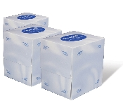 An image of DISC AURELIA PREM 2 PLY WHITE CUBED FACE TISSUE 21