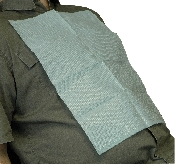 An image of DISPOSABLE BLUE PATIENT BIBS 500PK