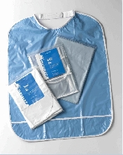 An image of BLUE BIB - VELCRO FASTENING
