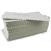 An image of C FOLD 2 PLY WHITE TOWELS 23X31CM (1x15)