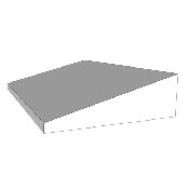 An image of Foam: Erect Chest/Trendelenberg Wedge 55x35x15cm- Plain