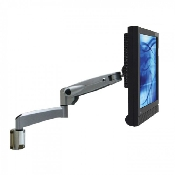 An image of VisionPro 500 series compact gas assisted LCD arm with wall mount fitting black finish