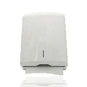 An image of Multifold Handtowel Dispenser - White Metal