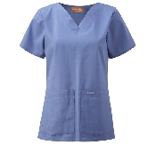 An image of Unisex V-Neck Scrub Top (LANDAU)