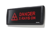 "An image of LED Ultra sign ""Danger X-rays On""470mm Red"