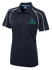 An image of G-Force  Ladies Fit Poloshirt Navy ISCP Logo (ISCP204-6)