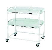 An image of Dressing Trolley with 2 Glass Effect Trays