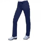 An image of KOI stretch Lindsey trousers Navy