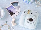 An image of INSTAX MINI 9 ICE BLUE PLUS 10 SHOTS