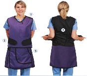 An image of Pro-PK Full Front Overlap Two Piece Wraparound Style Apron