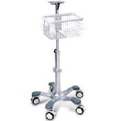 An image of EDAN Mobile Trolley Stand with Basket for iM8 iM8b iM60 iM70 Multi-Paremeter Monitors