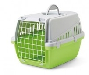 An image of Pet-Porta Small (Lime Green and Grey) Pet Carrier