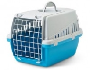 An image of Pet-Porta Small (Blue and Grey) Pet Carrier